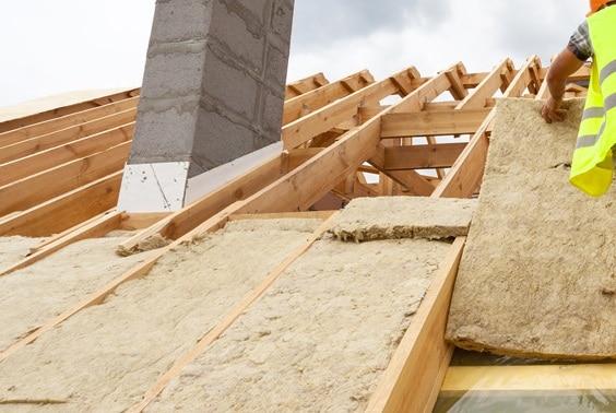isolamento termico per il tetto.