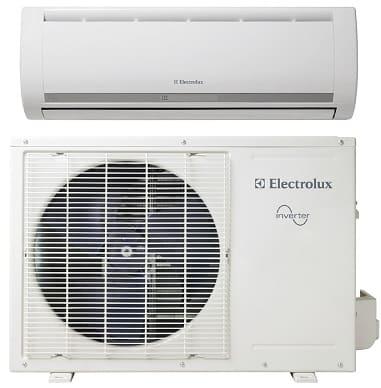 aria condizionata: unità interna ed esterna di un condizionatore.