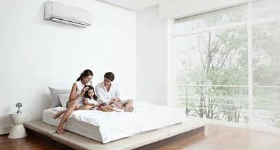 aria condizionata in camera da letto