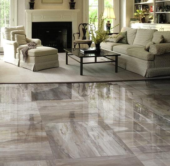 Pavimento soggiorno: una pavimentazione in marmo.