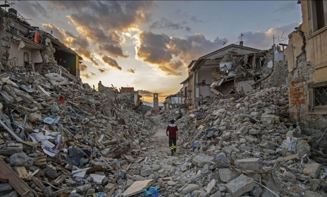 Gli effetti di un terremoto. Il sisma bonus 2019 agevola la messa in sicurezza degli immobili esistenti.