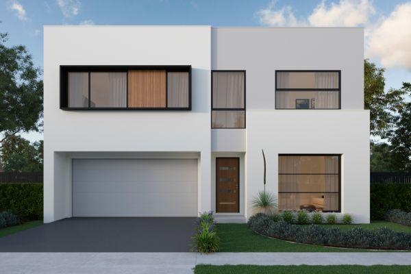 Il progetto per la ristrutturazione di un edificio con due case di 50 mq.
