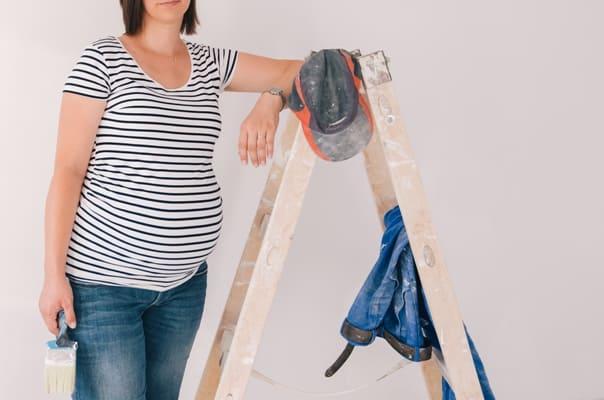 Ristrutturare casa in gravidanza può essere fonte di forte stress per la gestante.