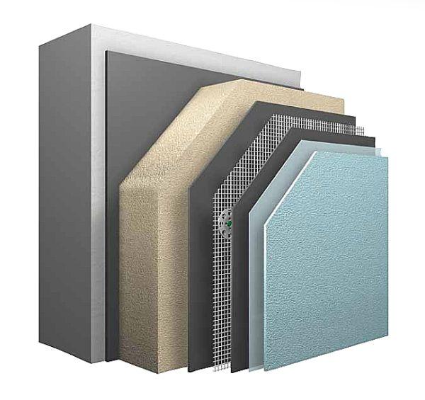 Materiali isolanti utilizzati per realizzare un cappotto termico.