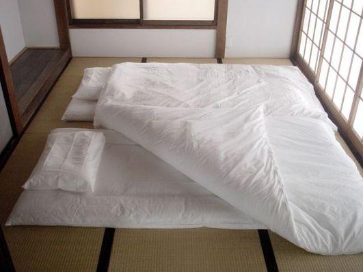 Il tipico futon giapponese è un elemento essenziale per una casa in stile zen.