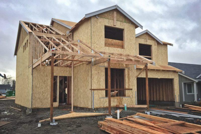 Casa in costruzione soggetta a nuovo accatastamento.